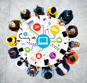 Group Of Multi-Ethnic People Social Networking