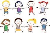 Children hand in hand