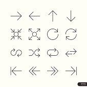 Control & Arrow Icons set