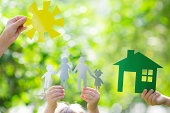 Ecology house in hands