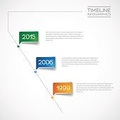 Vector Infographic diagonal timeline report template