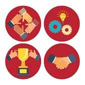 partnership and cooperation icons
