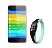 Health and fitness information synchronize from smart wristband