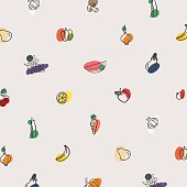 Vector pattern of vegetables