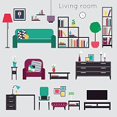 Living room. Furniture and Home Accessories,