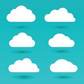 Messages in the form of white clouds. Vector Illustration.