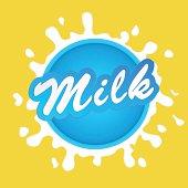 Milk label lettering - vector