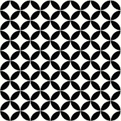 Pattern circle flower background 01