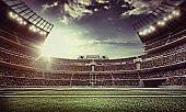 Retro american football stadium