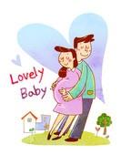 임신과 출산 일러스트