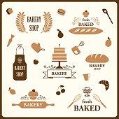 Vector Bakery Design Elements
