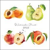 apricot, apple, peach, pear