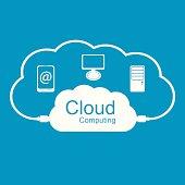 Cloud computing concept. Modern design template.
