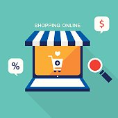 E commerce business concept. Online store, shopping