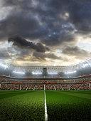 soccer stadium dramatic day vertical