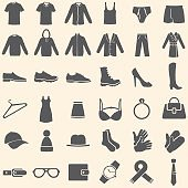 Vector Set of Clothes Icons