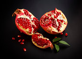 juicy pomegranate open