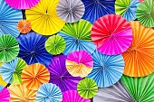 Background of colorful paper folded
