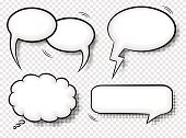 comic style speech bubbles