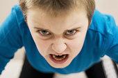 Furious angry boy