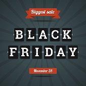 Black friday sale illustration in flat style.