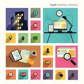 Flat Modern Lifestyle - Business Symbols