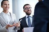 Joyful business communication