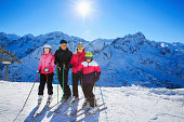 Snow skier - Skiing family