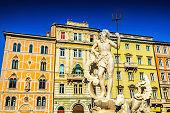 Neptune Statue in Trieste, Italy