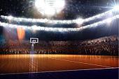Basketball light Arena unfocus background