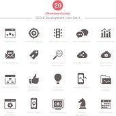 Set of SEO and Development icons Set 1