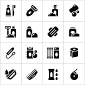Set icons of hygiene