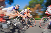 Racing Cyclists - Blurred Motion