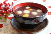 Japanese dessert, sweet red-bean soup