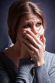crying upset woman