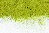 border of powdered green tea