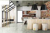 Contemporary style of Dining room interior design