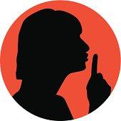 Woman shhh sign