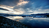 View of the glacier lagoon, Jokulsarlon, Iceland
