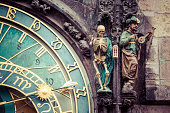 Detail of the Prague Astronomical Clock in Prague