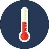 Vector thermometer - flat icon