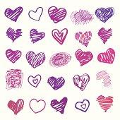 Love. Heart illustration isolated.