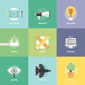 Design product development flat icons