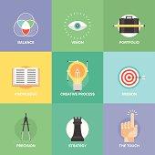 Creative design elements flat icons