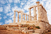 Temple of Poseidon on cape Sounion view