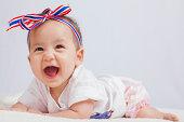 cute girl baby in Thailand