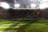 american football stadium arena 3d render