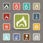Fire icons.vector eps10