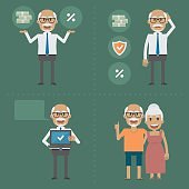 Older people, pension fund concept