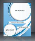 Business brochure blue design, magazine cover, flyer, or poster